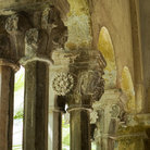 Picture - Columns from the cloister of Dubrovnik's Franciscan Monastery.