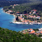 Picture - View over an ocean front village on Dugi Otok.