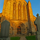 Picture - Evening light on the façade of the Dunblane Cathedral.