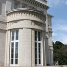 Picture - The curved side entrance to Dundurn Castle in Hamilton.
