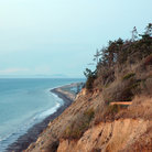Picture - The cliffs and sand spit of Dungeness National Wildlife Refuge at Sequim.