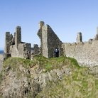 Picture - The roofless ruins of Dunluce Castle where sailors of the Spanish Armada were shipwrecked.