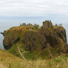 Picture - Panoramic view of the ruins of Dunnottar Castle.