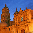 Picture - Evening view of the Cathedral in Durango.