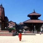 Picture - Overview of Durbar Square in Bhaktapur .