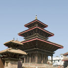 Picture - A Hindu shrine in Kathmandu's Durbar Square.