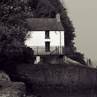 Picture - Dylan Thomas' Boat House at Laugharne.