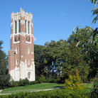 Picture - The Beaumont Tower with the MSU carillon in East Lansing.