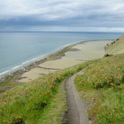 Picture - A walking trail along the shore at Ebey's Landing National Historical Reserve on Whidbey Island.