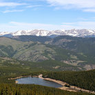 Picture - View of Echo Lake from Mt Evans.