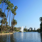 Picture - A pond in Echo Park in Los Angeles.