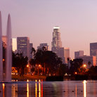 Picture - Beautiful view of downtown Los Angeles from Echo Park.