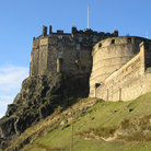 Picture - Wall of the Edinburgh Castle.