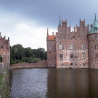 Picture - Egeskov Castle near Faborg built on a lake in 1554.