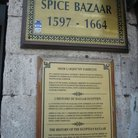 Picture - Plaque at the entrance of the Misir Casisi - the Egyptian Spice Bazaar in Istanbul.