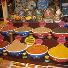 Picture - A range of exotic spices for sale in the Spice Bazaar in Istanbul.