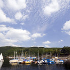 Picture - Boats in a marine at Rur Lake, Eifel.