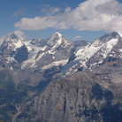 Picture - Eiger, Monoch, Jungfrau from the Shilthorn.