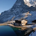 Picture - A small lake below Eiger's north face.