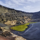 Picture - Water in the crater of El Golfo on Lanzarote.