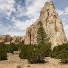 Picture - Stone formations and mesa at El Morro National Monument.