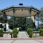 Picture - An open air gazebo in the El Pueblo area of Los Angeles.