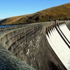 Picture - The Claerwen dam in the Elan Valley.
