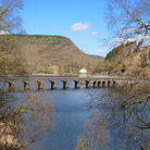 Picture - Bridge over a reservoir in the Elan Valley.