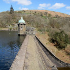 Picture - View of the Penygarreg reservoir in the Elan Valley.