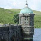 Picture - Craig-Goch dam tower in the Elan Valley.