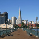 Picture - Embarcadero and Transamerica Building from Pier 7, San Francisco.