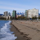 Picture - The beach at English Bay, Vancouver.