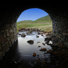 Picture - River through a tunnel at Ennistymon.