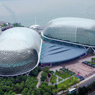 Picture - Aerial view of the Esplanade in Singapore.