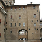 Picture - Castello Estense, the four-towered moated castle of the Este family in Ferrara.