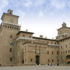 Picture - View of Castello Estense in Ferrara.