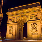 Picture - Arc de Triomphe in Place Charles de Gualle in Paris.