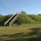 Picture - Walk way to a viewing platform at Etowah Indian Mounds State Historical Site.