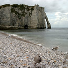Picture - Shore and cliff at Etretat.