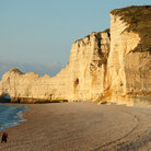 Picture - Cliff walls along the ocean at Etretat.