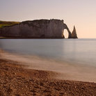 Picture - The beach of Etretat.