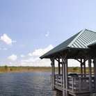 Picture - A visitor viewing platform in the Everglades National Park.