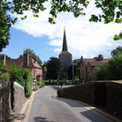 Picture - An old church and street in Eynsford.