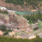 Picture - View of the Banff Springs Hotel.