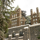 Picture - Detail of the Fairmont Banff Springs Hotel in Banff.