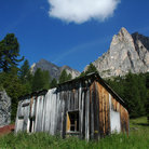 Picture - Old wooden building at Passo Falzarego.