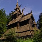 Picture - Roof of the Fantoft Stave Church in Bergen.