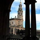 Picture - Bell tower of the Basilica of Fatima.