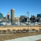 Picture - Inner harbor and skyline as seen from Federal Hill in Baltimore.