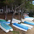 Picture - Boats on the shore in Porto Colom.